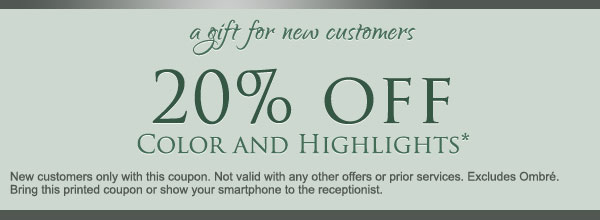 New customers receive 20% off your first visit - Egg Harbor salon deals